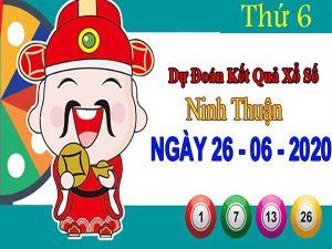 Dự đoán XSNT ngày 26/6/2020 – Dự đoán KQXS Ninh Thuận thứ 6