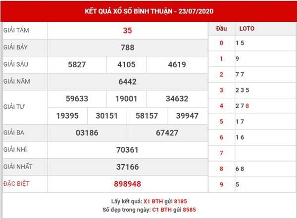 Dự đoán kết quả XS Bình Thuận thứ 5 ngày 30-7-2020