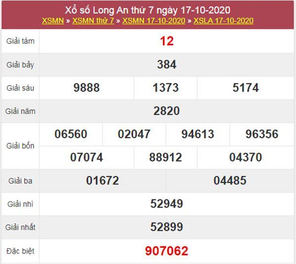 Dự đoán XSLA 24/10/2020 chốt lô VIP Long An thứ 7