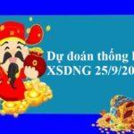 Dự đoán thống kê XSDNG 25/9/2021 hôm nay